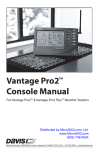Davis Instruments Vantage Pro 2: Console User Manual