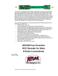 AN12A0 Four-Function DCC Decoder for Atlas N Scale Locomotives
