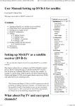 User Manual:Setting up DVB-S for satellite