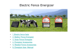 Electric Fence Energizer User Manual