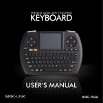 Wireless Ultra Mini Touchpad Keyboard User`s Guide