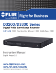 D3200 & D3300 Series Security DVR Instruction Manual