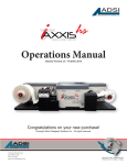 AxxisHS Operators Manual - the Help Centre, please click on