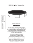8` Spring Trampoline with Enclosure User Manual