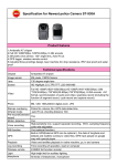 Specification for Newest police Camera ST-930A