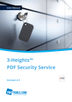 3-Heights™ PDF Security Service, User Manual