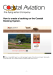 How to create a booking on the Coastal Booking System.