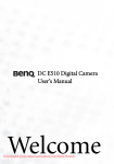 BenQ DC E510 User Guide Manual pdf
