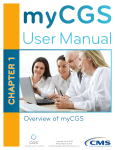 Chapter 1 of the myCGS User Manual