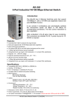 NS-205 5-Port Industrial 10/100 Mbps Ethernet Switch