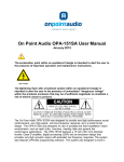 On Point Audio OPA-151SA User Manual
