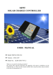 MPPT SOLAR CHARGE CONTROLLER USER