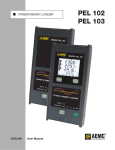 AEMC PEL 102 / PEL 103 Power and Energy Loggers Manual PDF