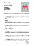 User manual ALFA 55 RTDF and ALFANET 55 RTDF