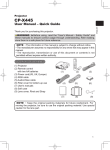 CPX445W User manual