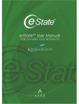 e-State™ User Manual- for Owners & Residents - e