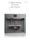 CraftBot Desktop 3D Printer User Manual