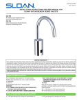 Optima i.q. EAF-700/EAF-750 Faucet Installation Instruction | Sloan