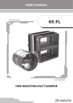 "User`s manual ""Dampers KP, PL"" ( PDF 4,17Mb )"