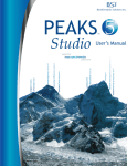 PEAKS Studio Manual 5.0 - Bioinformatics Solutions Inc.