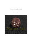 Unofficial Nielsen Lab Manual - The University of Texas at Dallas