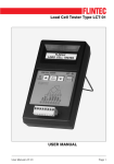 Load Cell Tester Type LCT-01 USER MANUAL