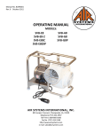 oPerAtinG mAnUAl - Air Systems International