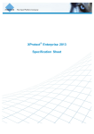 XProtect Enterprise 2013 Specification Sheet