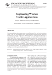 Engineering Wireless Mobile Applications