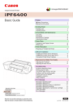 iPF6400 Basic Guide - Poster Printer | Wide Format Plotter Printer