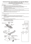 26-9-04 universal cooker hood installation and operation manual