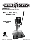 HOLLOW CHISEL MORTISER - Steel City Tool Works