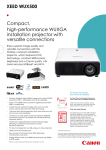 Compact, high-performance WUXGA installation