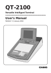 Casio QT2100 user manual