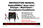 INSTRUCTION MANUAL Charger / Maintainer