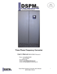 Three Phase Frequency Converter User`s Manual #018