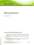 DNA Concentrator Kit