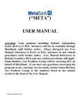 "(""META"") USER MANUAL"