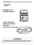 Jandy Aquapure Owners Manual