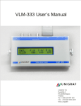 VLM-333 User`s Manual