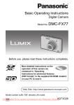 Panasonic Lumix DMC-FX77 User Guide Manual pdf