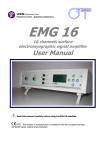 5. symbols used on emg16 and in the user manual