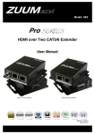HE2 HDMI over Two CAT5/6 Extender User Manual
