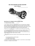 SELF-BALLANCING ELECTRIC SCOOTER User`s Manual