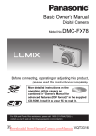 Panasonic Lumix DMC-FX78 User`s Manual