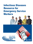 Infectious Diseases Resource for Emergency Service Workers