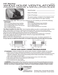 HV1000 Whole House Fan User Manual