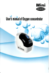 Page 1 Page 2 Mini [ w u? \ I User`s m`anfialgf Oxygen concentrator