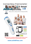 Contactless Thermometer Bluetooth 4.0 User Guide
