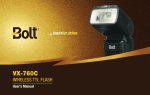 User Manual - VX-760C TTL Flash.indd